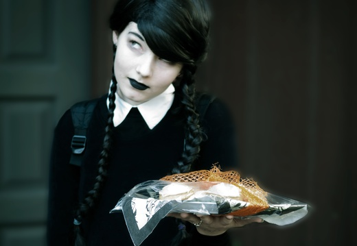 Wednesday Addams Offers Cookies